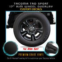 3D Carbon Fiber RED 16-18 Tacoma Door Sill Protector Vinyl Decal Insert 4PCS