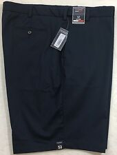 Men's Roundtree & Yorke Classic Fit Blue Casual Shorts 52 B Flat Front NWT $46