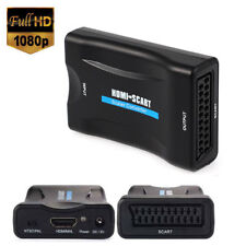1080P HDMI a video composito SCART Scaler Converter Adattatore audio per DVD SKY