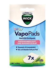 WICK Baby VapoPads 7x Rosmarin und Lavendel Pads Angenehmer Duft bei Erkältung