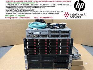 HP DL380 Gen9 v3 10Gbit iSCSI 7.2TB 15K 48-Cores 256GB Gen9 Server San Solution