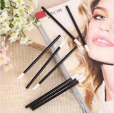 50PCS Soft Fleece Disposable Lipstick/Lip Gloss Brush Wands Applicator Black JJ