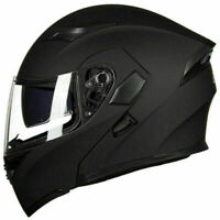 Motorcycle Dual Visor Flip up Modular Full Face Helmet DOT Approved M L XL XXL