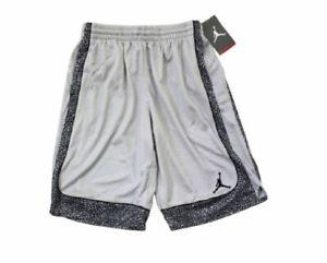 New Nike Air Jordan Basketball Shorts Boys Elephant 852487-174 Wolf Grey Size 5