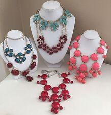 Bubble Bead / Bib / Collar Necklace Lot Chandelier Fashion Statement Jewelry