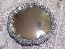 George V English Sterling Silver Salver Tray by James Dixon & Son