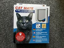 "Cat Mate 4 Way Locking Cat Flap with Door Liner to 50mm (2""), White (235W)"