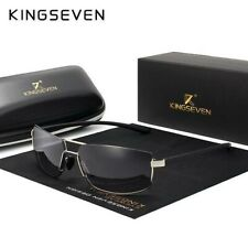 Black KINGSEVEN Square Frame Mens Polarized Sunglasses N7128