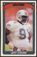 American Football 90/91 Panini #112 Pegatinas Jeff Cruz (C186)
