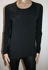 WITCHERY Brand Black Long Sleeve Pull Over Top Size M LIKE NEW #AN02