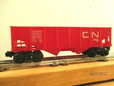 """"""" LIONEL """" # 9013 CANADIAN NATIONAL """" RED COAL HOPPERCAR 1972 76 ."""