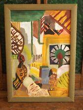 Bild, Malerei, Gouache, Tempera, Abstrakte Kunst, Landschaft, Ölbild