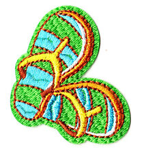 SANDALS - FLIP FLOPS- Iron On Embroidered Applique Patch/Beach/Tropical, Sandals
