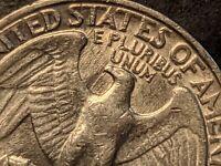 Spiting EAGLE 1982-P Die Clash US Mint Error Washington Quarter