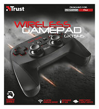 TRUST 20491 GXT545 WIRELESS 13 BUTTON 2 JOYSTICK RECHARGEABLE GAMEPAD FOR PC PS3