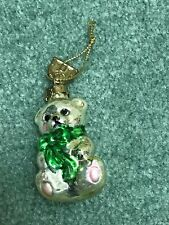 Thomas Pacconi Advent Calendar Replacement Glass Ornament Day #3 Teddy Bear
