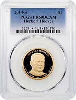 2014-S Herbert Hoover Presidential Dollar PCGS PR69 DCAM