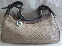 Dooney Bourke Signature Purse Brown Bucket Handbag Pre-owned Good Condition