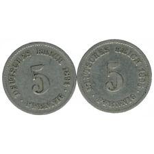 Deutsches Reich 5 Pfennig 1894 F und 1895 F A50255