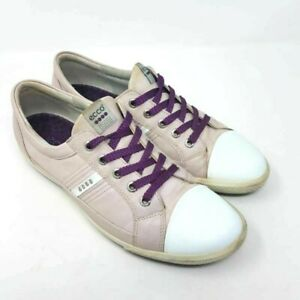 ECCO Womens Golf Shoes Pink Low Top Lace Up Sneakers 9-9.5 M EUR 40