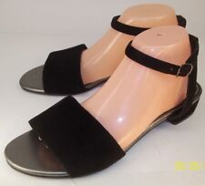 Vagabond Wos Shoes EU41 US 10 Black Suede Ankle Strap Sandals Open toe Sides New