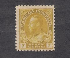 Canada Sc 113 MLH. 1912 7c yellow ochre Admiral