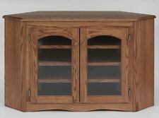 #892 Solid Wood Oak Country Corner TV Stand