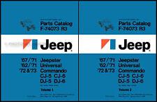 Commando Jeepster CJ Parts Book Catalog 1967 1968 1969 1970 1971 Jeep CJ5 CJ6