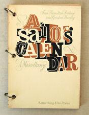 Artist Book IAN HAMILTON FINLAY & Gordon Huntly A SAILOR'S CALENDAR 1971 1st Ed