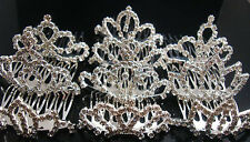Lots Fashion 12pcs 6cm Width Mixed Small Rhinestone Tiara Crowns N69