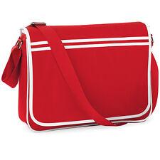 SAC bandoulière RETRO MESSENGER BAG BASE Couleur ROUGE / BLANC 12 Litres