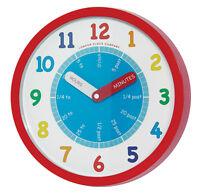 Children's Nursery Teach Tell Time bold colourful Teaching LC Wall Clock 24183