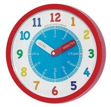 Children's Nursery Teach Tell Time bold colourful Teaching Wall Clock 24183