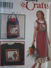 7703 Vintage Simplicity SEWING Pattern Jumper Tote Bag Panel BECK FF OOP S - L