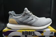 798c296b5f3 Adidas Ultra Boost 3.0 Limited Leather Cage Grey Suede Linen Khaki BB1092