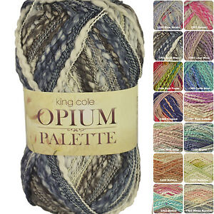 King Cole Opium Palette Chunky Fashion 100g Knitting Yarn