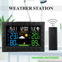 COLOR LCD Wireless Weather Station Thermometer Humidity Barometer + 1 Sensor Y01