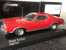 Minichamps 1:43 400 085200 Ford Torino 1976 In Red, Never Displayed!