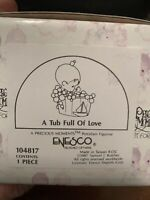 Vintage 1987 Enesco Precious Moments . A Tub Full of Love NEW SEALED IN BOX