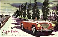 Austin Healey 100 Le Mans Sports Racing Vintage Poster Print Italian Car Races