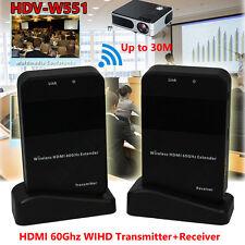 HDV-W551 HDMI AV Video Audio Extender 60G Transmitter Receiver Wireless HD 1080P