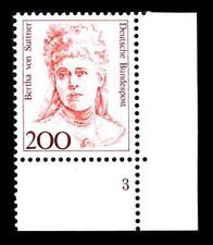 BUND Frauen  200 Pf.** postfrisch, Mi. 1498, Eckrand u.r. Formnummer 3