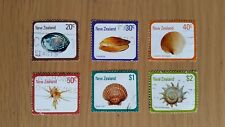 Complete New Zealand used stamp set: 1978 Shells