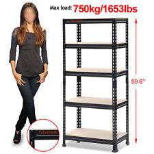 Heavy Duty Shelf Garage Steel Metal Storage 5 Level Adjustable Shelves Rack NEW