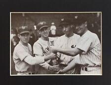 New York Giants & Yankees 1937 World Series - Vintage Matted Photo Art Print