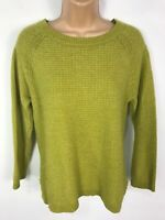 WOMENS MONSOON LIME GREEN WOOL BLEND KNITTED JUMPER SWEATER PULL OVER SIZE UK 10