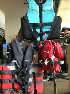 O'Brien Water Lake Ski Life Vest Jacket Ocean Family Lot 3 Safety Infant Adult