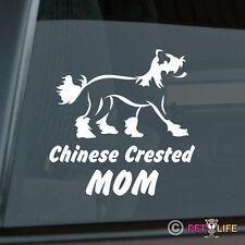 Chinese Crested Mom Sticker Die Cut Vinyl - v2 Puff