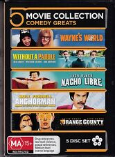 5 MOVIE COMEDY GREATS COLLECTION - includes  WAYNE'S WORLD & ANCHORMAN  - DVD