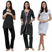 Happy Mama. Women's Maternity Nightie / Pyjamas /Robe SOLD SEPARATELY. 171p